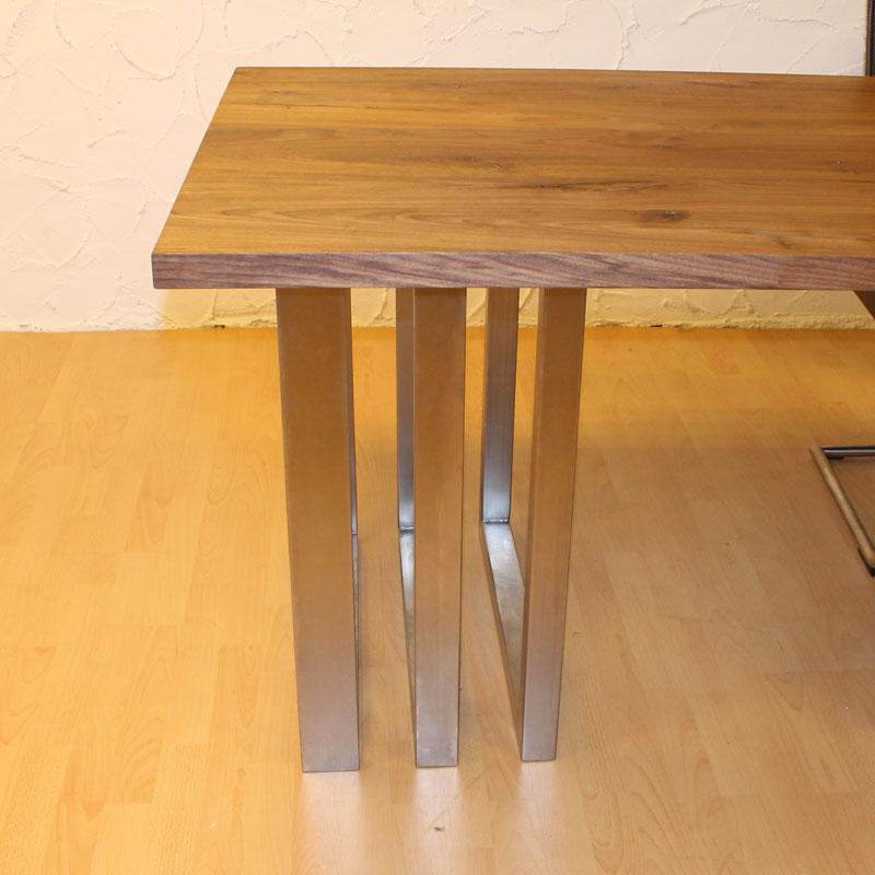 Wildeiche esstisch massiv tisch baumtisch mit baumkante - Baumtisch esszimmer ...